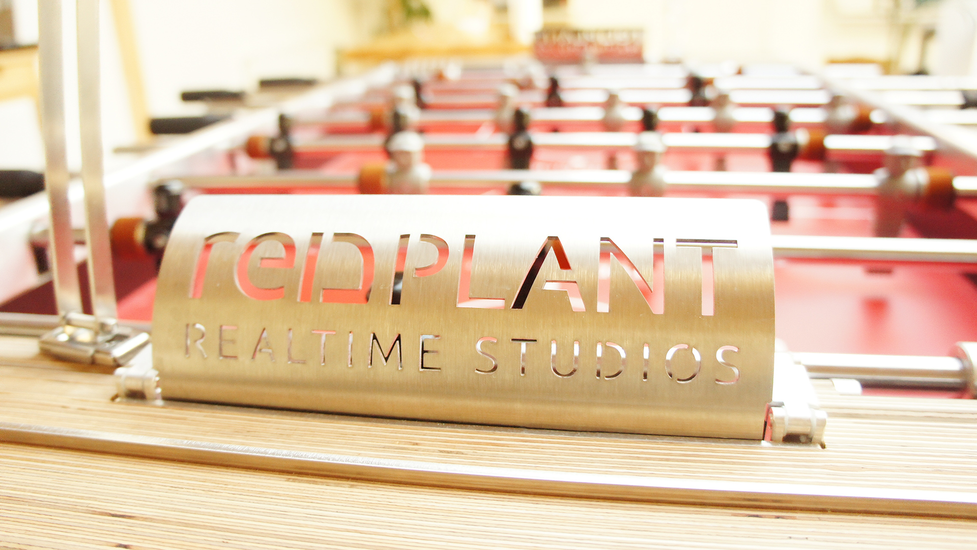 redplant realtime studio table football team header