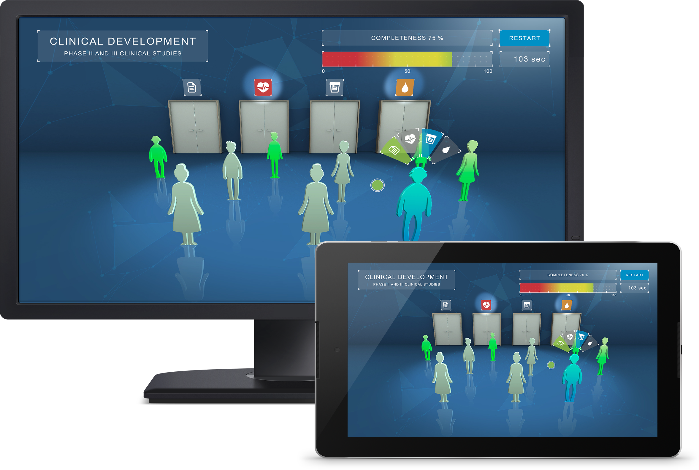 bayer serious games responsive design desktop and tablet