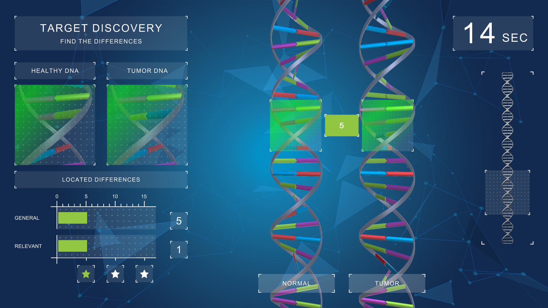 unity serious game target discovery for bayer difference dna strand