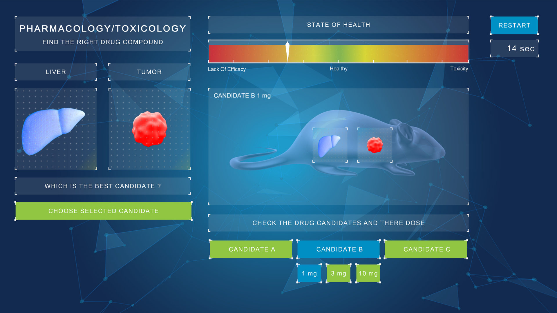 unity serious game toxycology example mouse for bayer