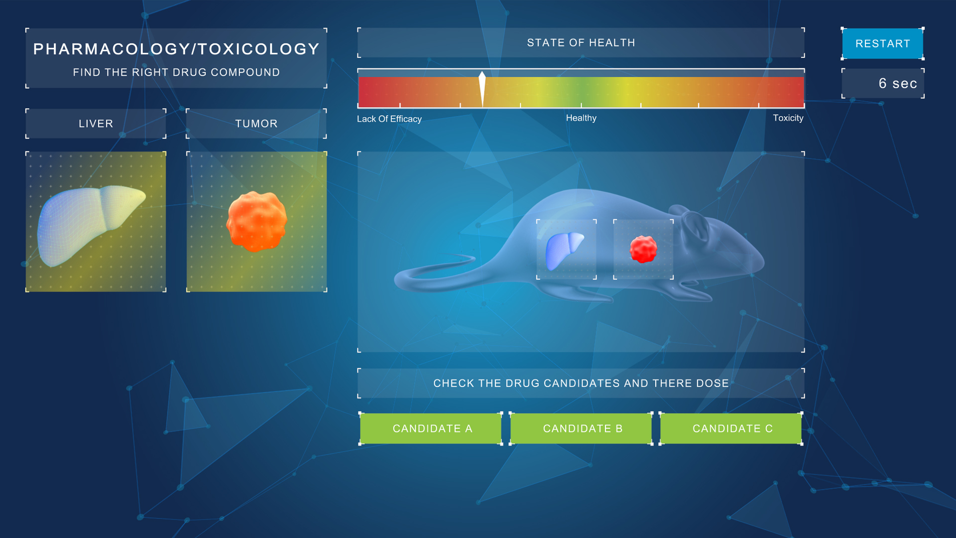 webgl serious game pharmacology for bayer
