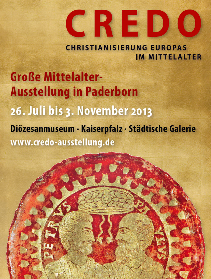poster of credo exhibition in diocesan museum paderborn