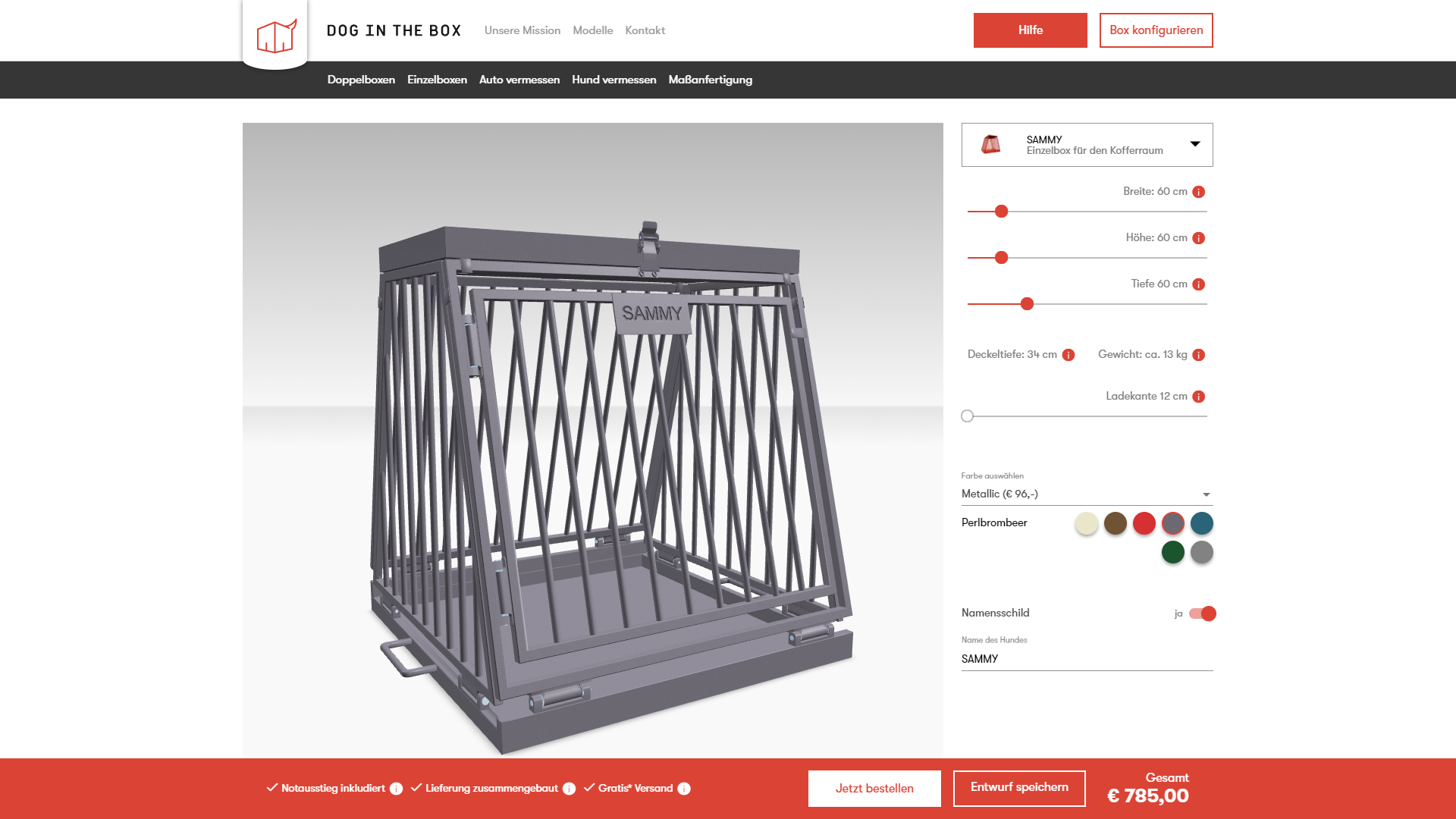 webgl configurator dogbox from dog in the box