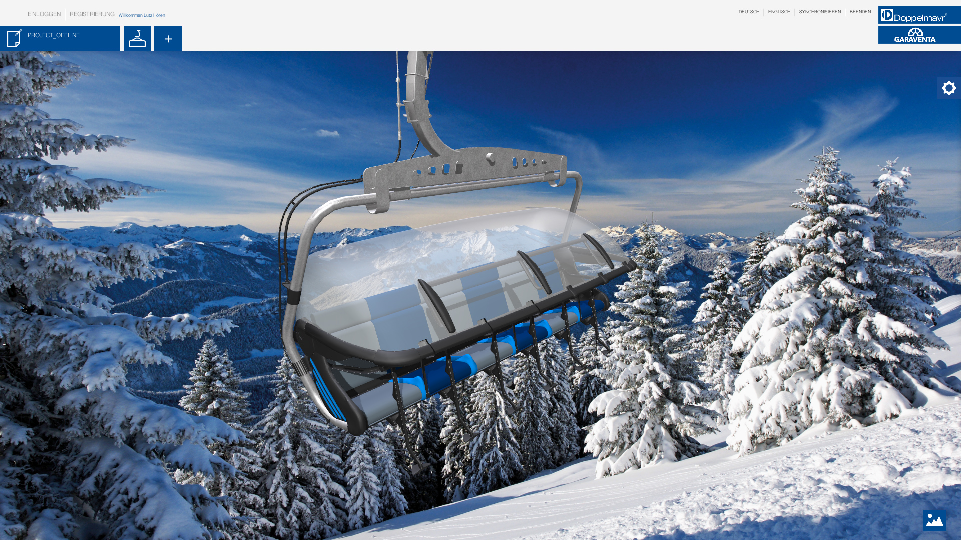 doppelmayr unity ropeway configurator chairlift with winter background