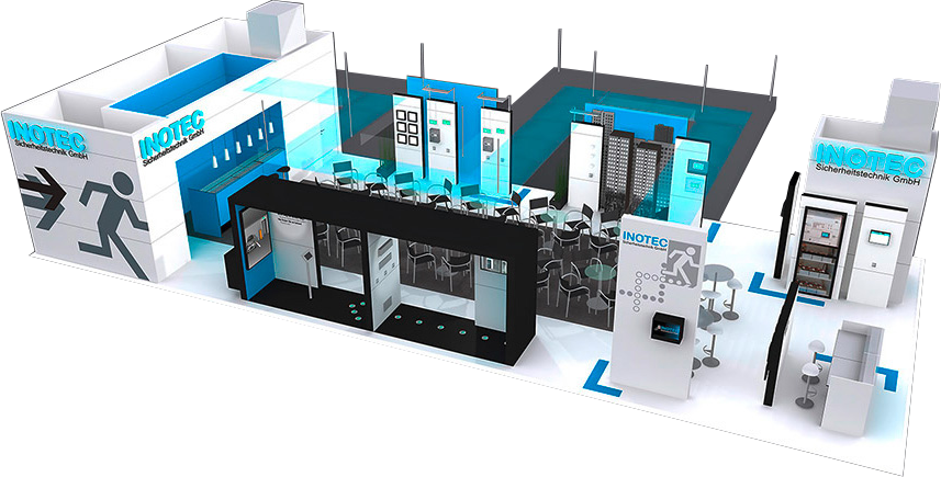 inotec dynamic escape routing booth with unity application