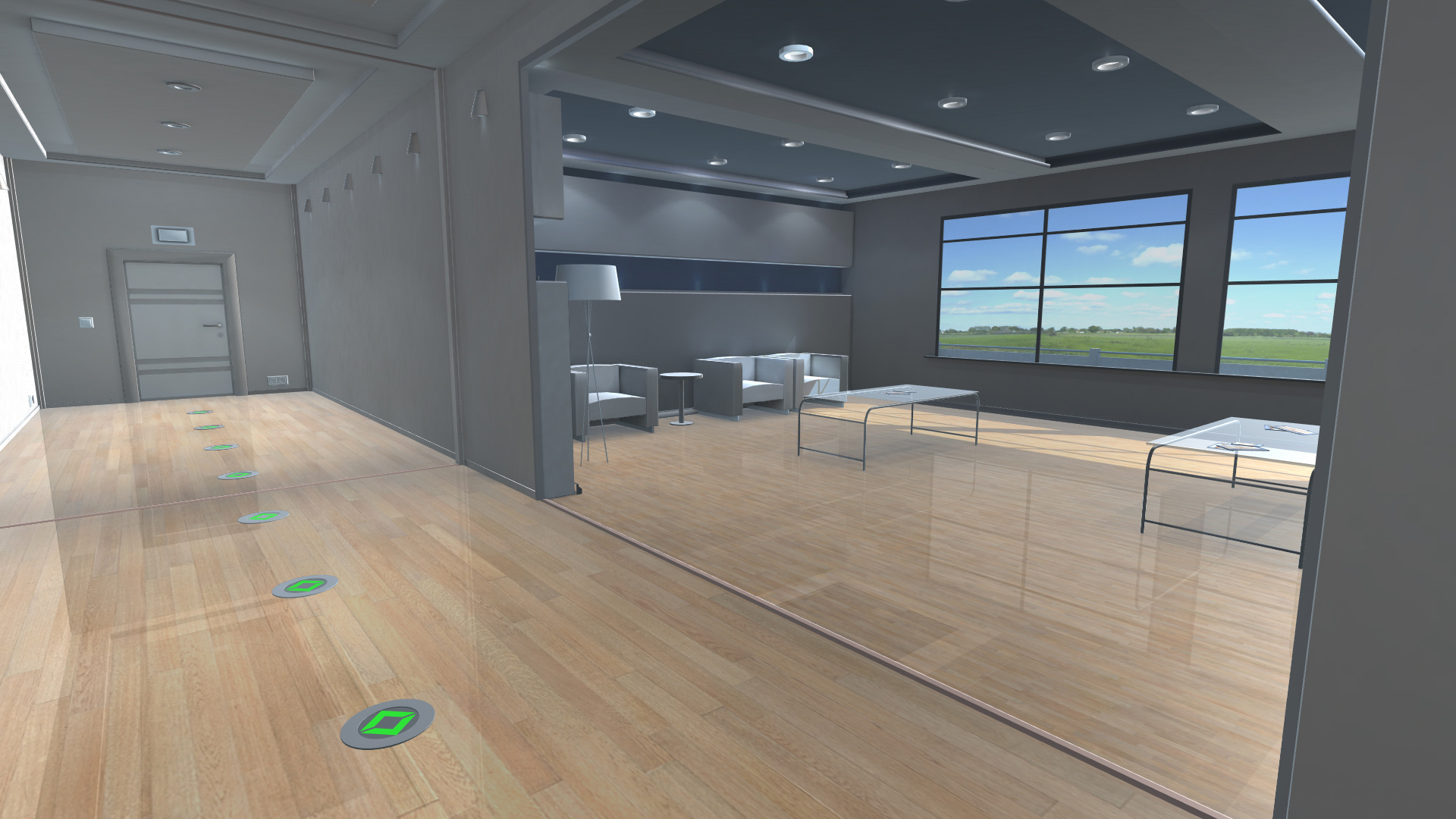 inotec dynamic escape routing unity visualization of office