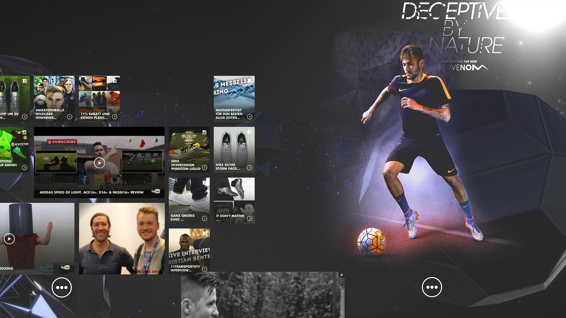 nike digital retail experience social media wall made with unity