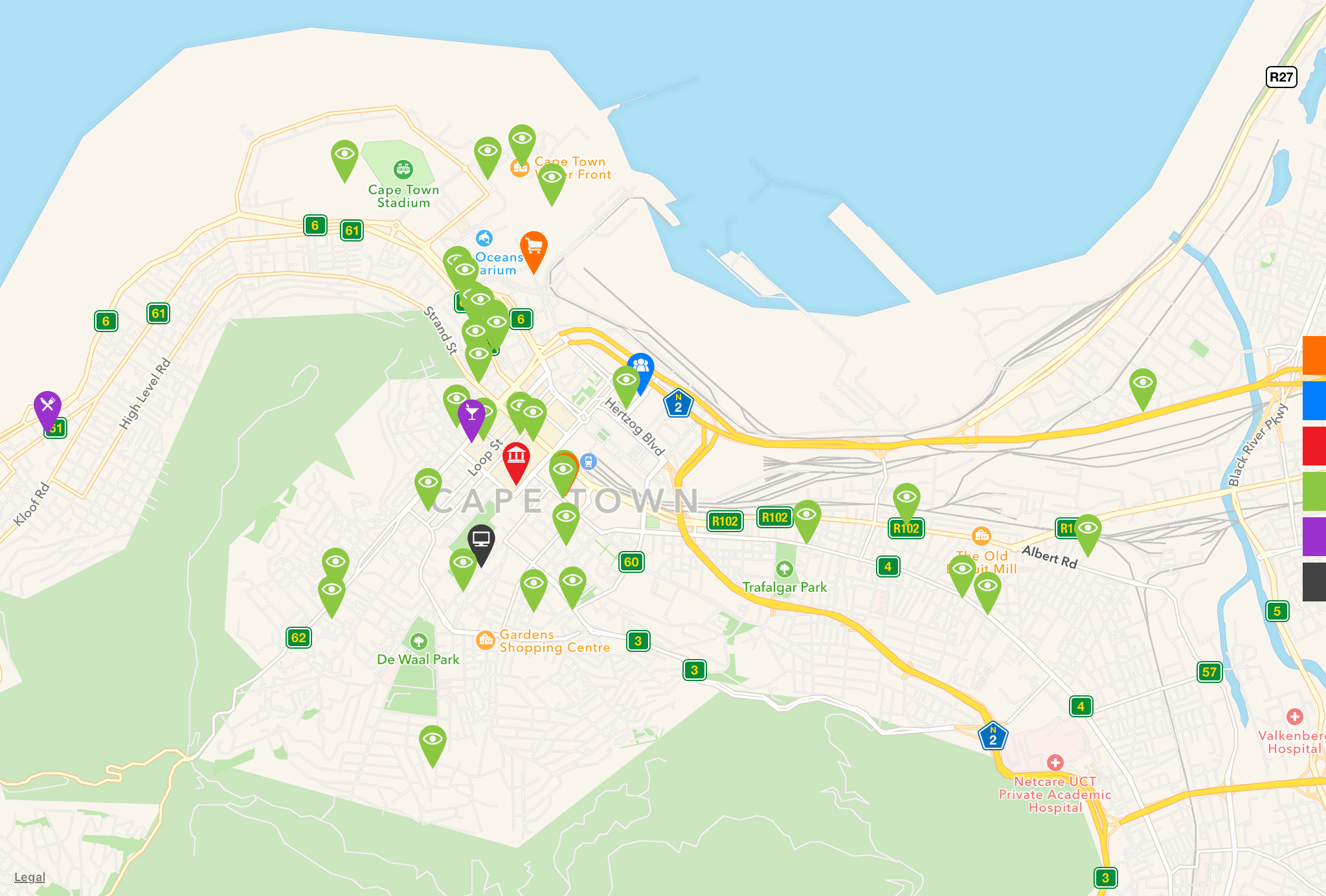 red dot maps design locations cape town