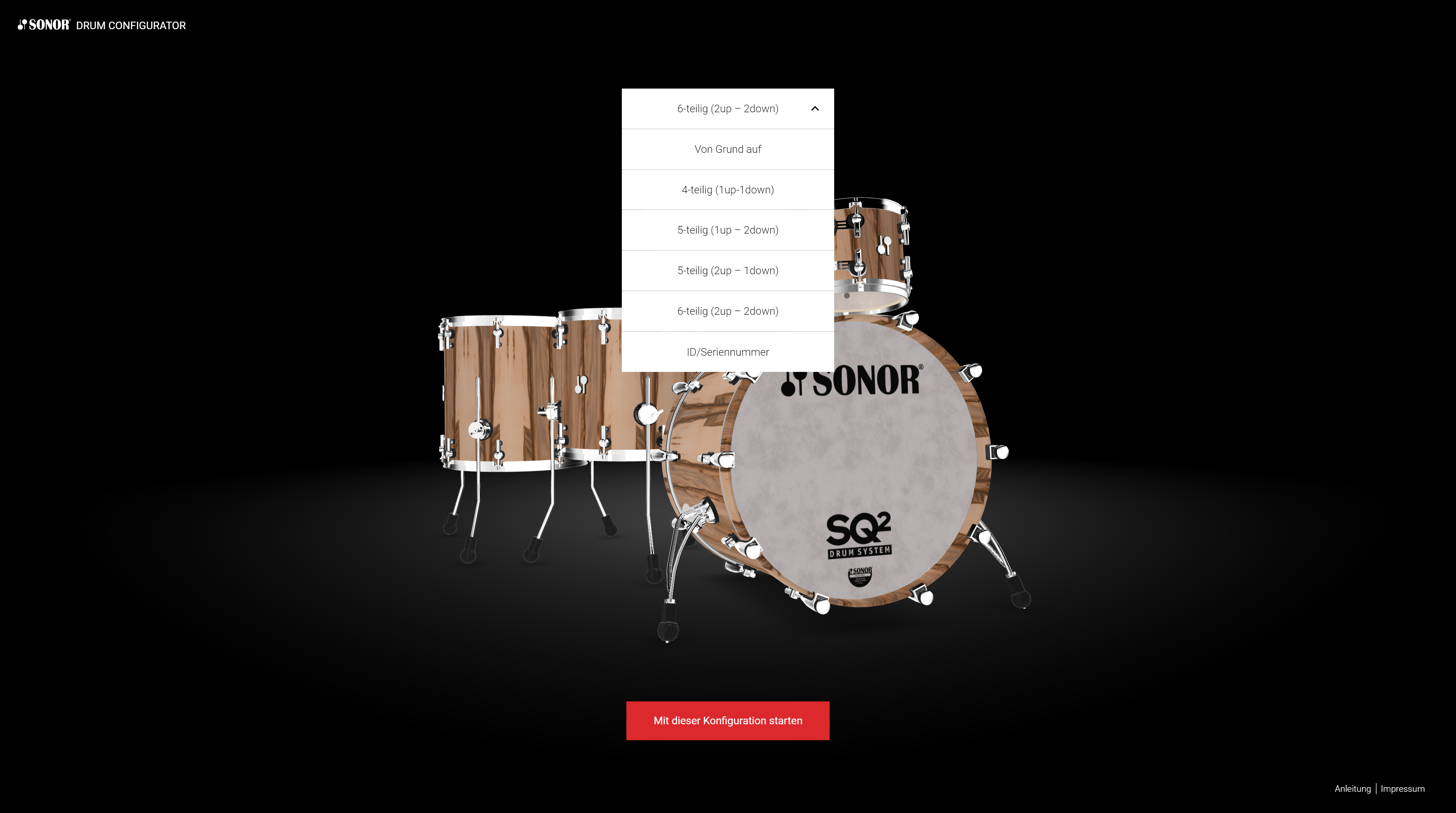 preset when start sonor sq2 configurator