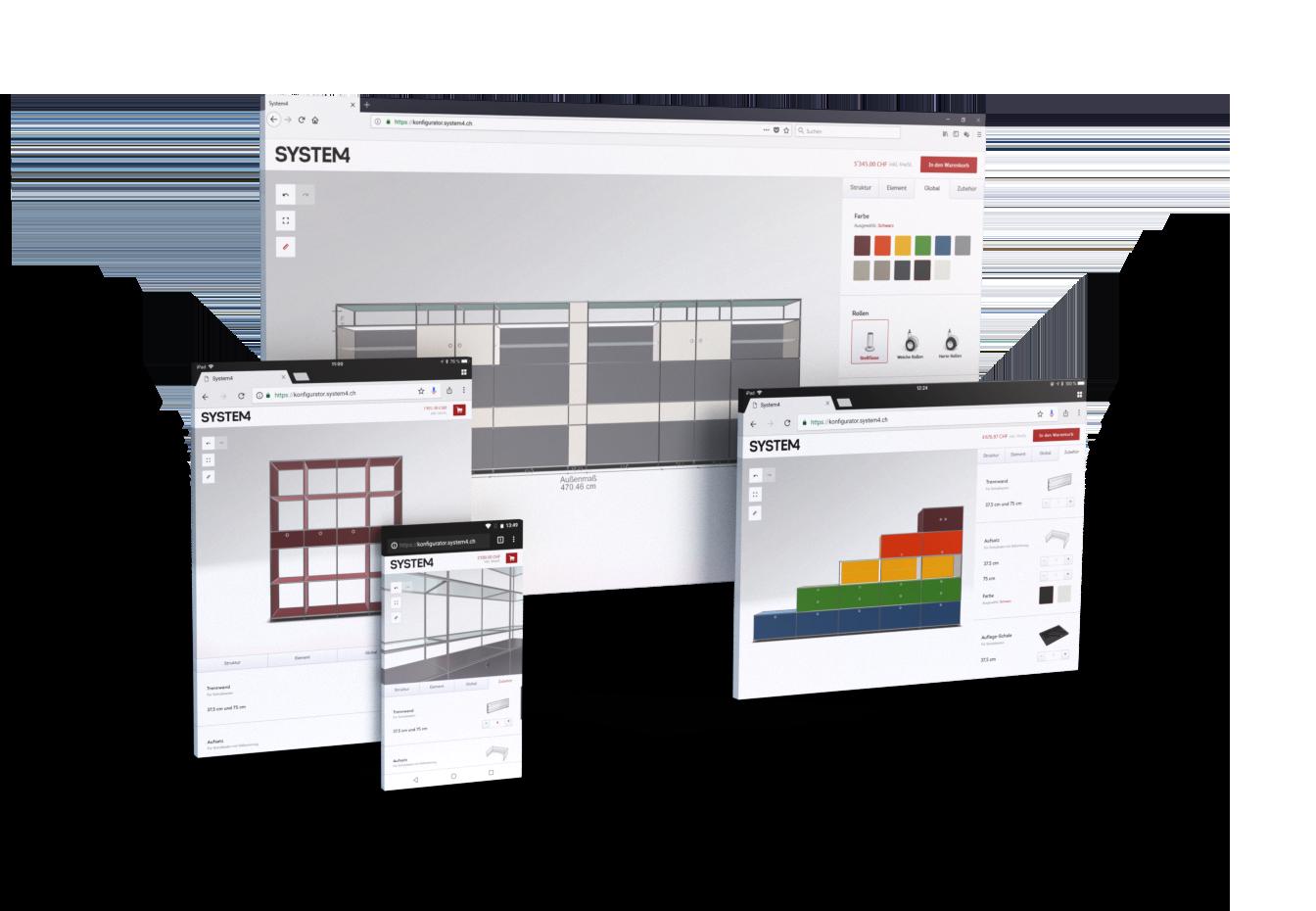 WebGL 3D Configurator - System4 Furniture Configurator