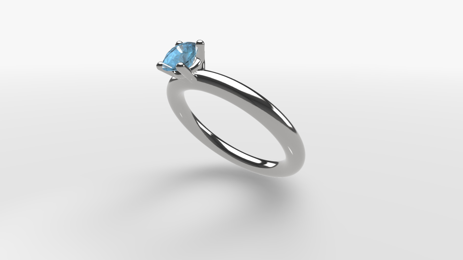 gemkit webgl configurator silver ring with saphire gem