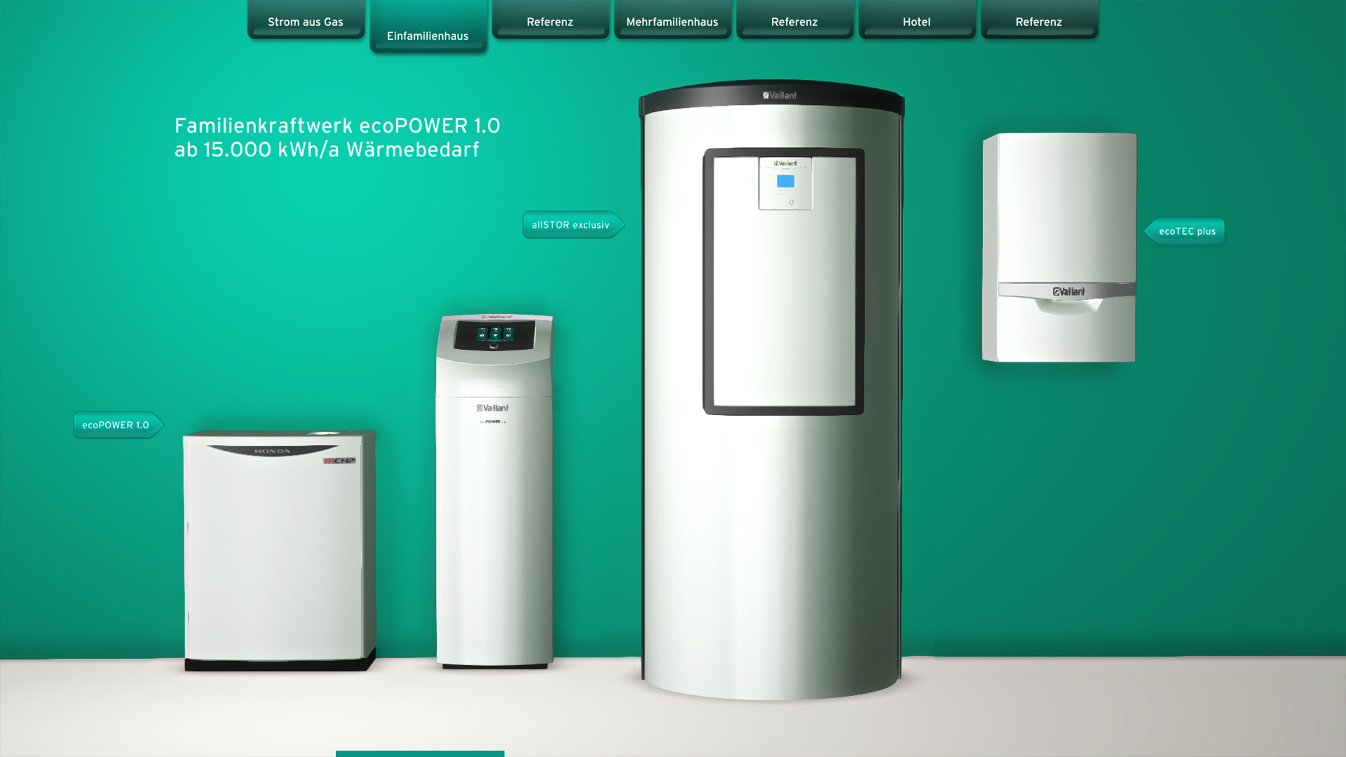vaillant city unity trade fair application realistic representation of appliances