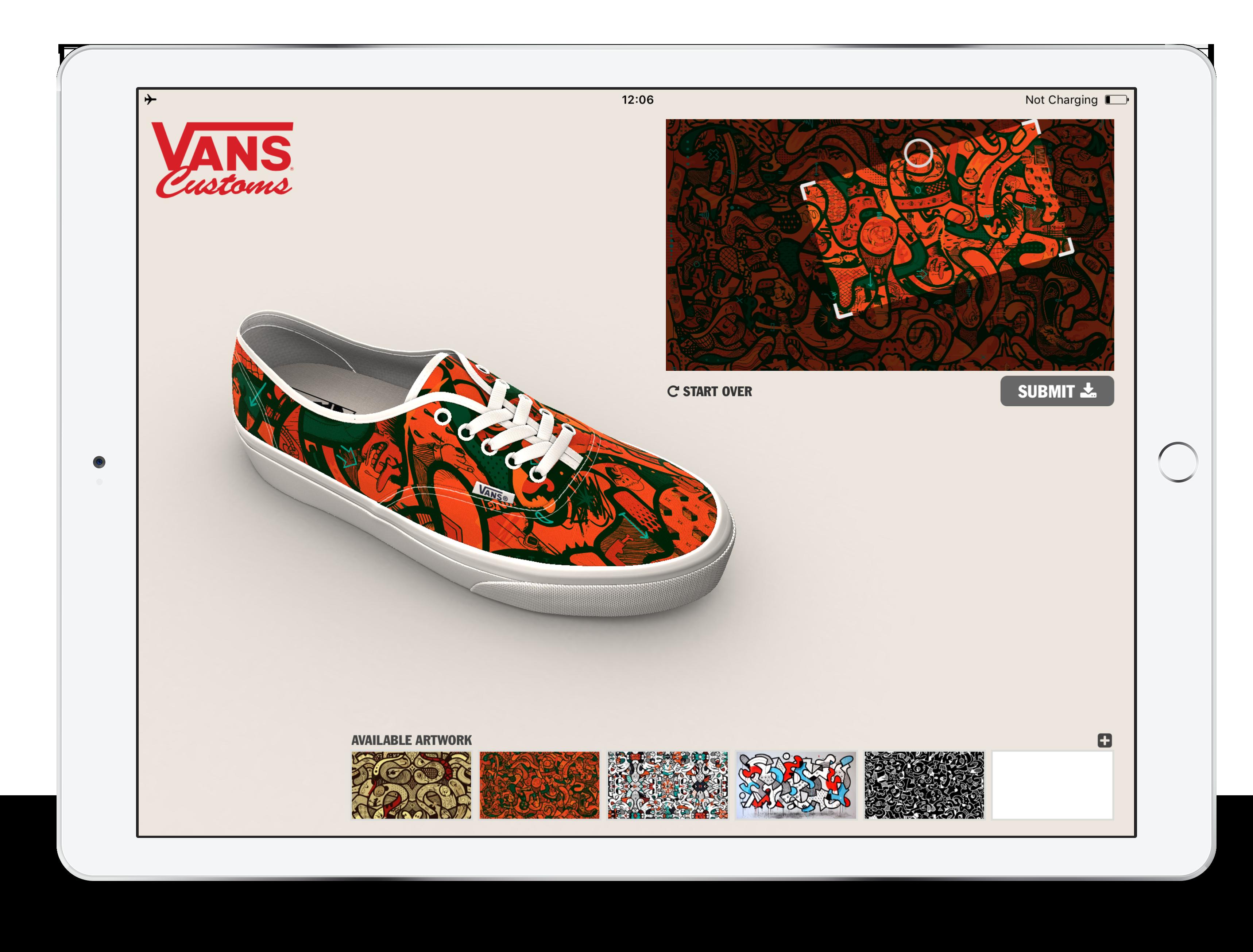 Vans iOS Application [redPlant Realtime Studio]